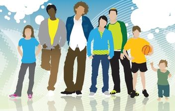 Teenage People Pack Silhouette - vector gratuit #174107