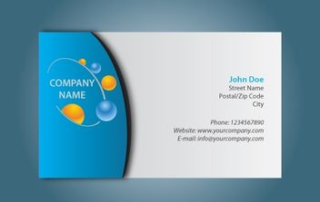 Simple Black & Blue Business Card - Free vector #174207