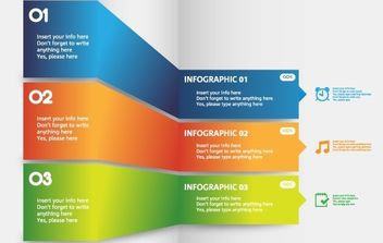 Folding Info-Graph Template - vector gratuit #174257