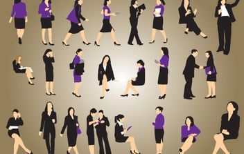 Silhouette Vector Businesswomen - бесплатный vector #174427