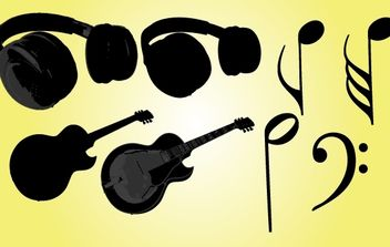 Musical Objects Vector - vector gratuit #174477