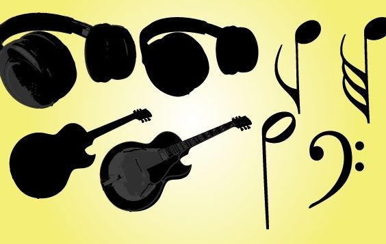 Musical Objects Vector - бесплатный vector #174477