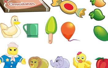 Toy objet collection - vector #174537 gratis