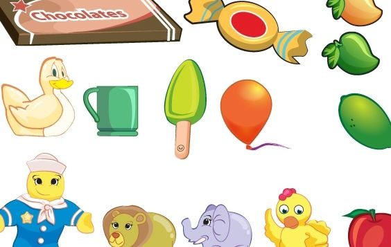 Toy objet collection - vector gratuit #174537