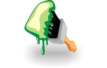 Paint brush icon - Free vector #174727