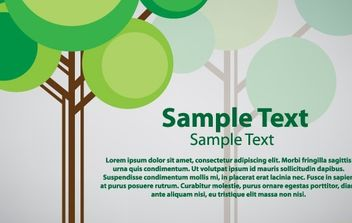 Tree card vector design - vector #174767 gratis