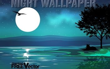Vector Night Wallpaper - Kostenloses vector #174787
