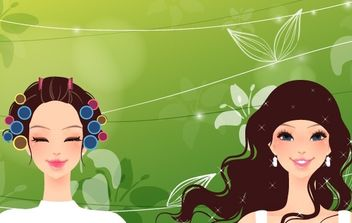 Curly girl - vector gratuit #174807