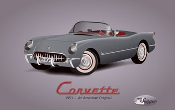 1953 Corvette Background - vector #174817 gratis