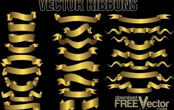 Free Vector Ribbons - vector gratuit #174887