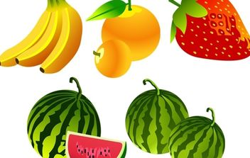 Free Vector Fruit Icons - Kostenloses vector #174937