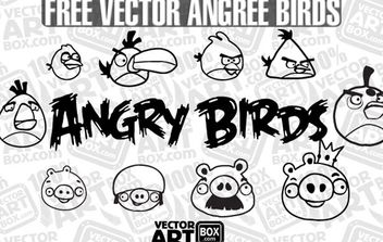Vector Free Sketch Angry Birds - Free vector #174967