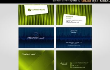 Vector Business Card Templates 02 - Free vector #174997