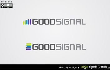 Good Signal Logo Vector - бесплатный vector #175027