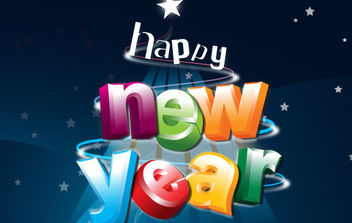 Happy New Year - vector gratuit #175087