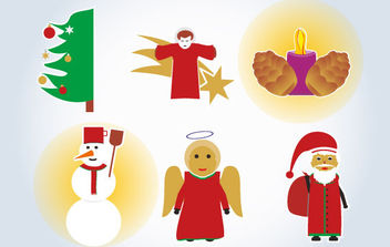 Xmas Vector Drawings - vector gratuit #175107