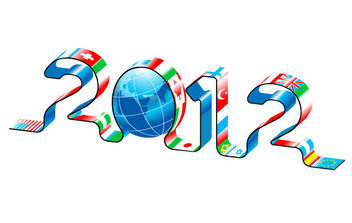 New Year 2012 World Maps - Free vector #175167