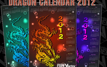 Dragon Calendar For 2012 - vector gratuit #175197