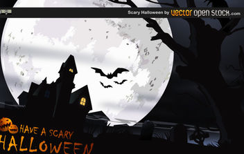 Scary Halloween - vector gratuit #175217