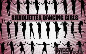Free Vector Dancing Girls Silhouettes - Free vector #175227