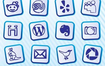 Social Media Icon Pack - Free vector #175237