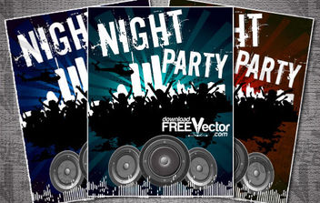 Flyer Template For Night Party - бесплатный vector #175247