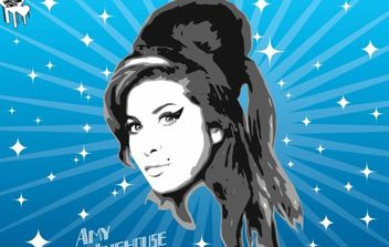 Amy Winehouse Vector Graphics - vector #175337 gratis