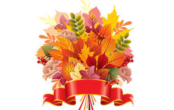Autumn Leaf Bouquet - vector gratuit #175477