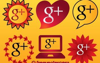 Google Plus Icons - Free vector #175507