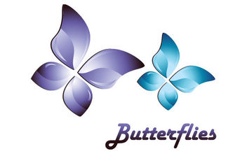 3D Butterfly Vector - Free vector #175607