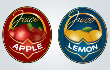 Juice Label Logo - Free vector #175697
