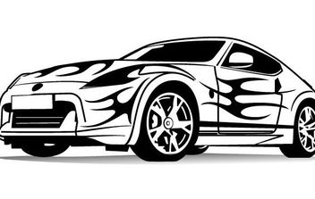 Sports Car Vector - vector #175757 gratis