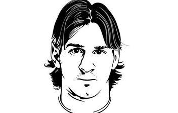 Lionel Messi Vector Portrait - Free vector #175777