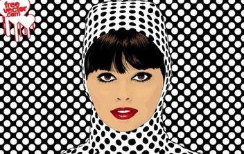 Pop Art Girl Vector - Kostenloses vector #175787