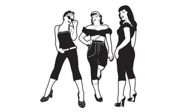 Bad Ass Girls - vector gratuit #175827