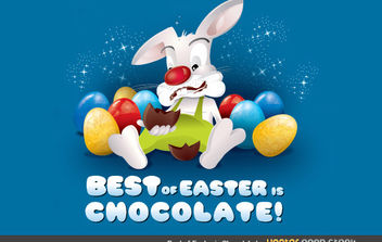 Best of Easter is Chocolate - Free vector #175947