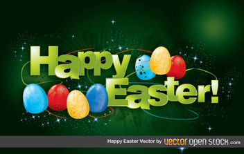 Happy Easter Vector - vector gratuit #175957