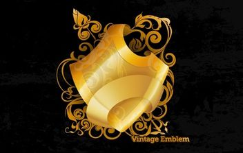 Golden Design Element 2 - vector #175977 gratis