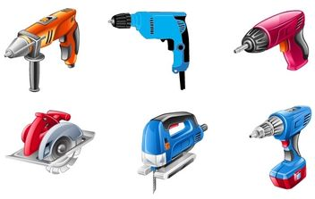 Electric Tools Vector Set - Free vector #175997