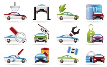 Car Services Vector Icons - бесплатный vector #176017