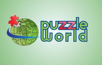 Puzzle World - Free vector #176027