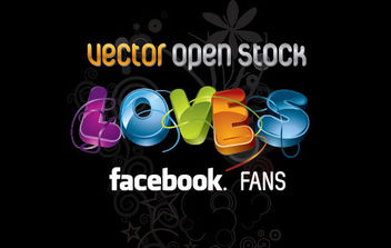 We Love Facebook Fans - vector gratuit #176037