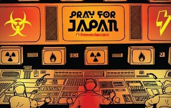 Pray for Japan - Free vector #176047