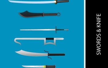 KNIVES AND SWORDS VECTORS - Free vector #176197