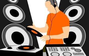 Music DJ Graphic Vector - Free vector #176257