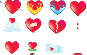 Vector icon Valentine Hearts - vector gratuit #176377