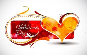 Valentine's Day Card - vector #176407 gratis