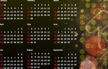 Colorful 2011 Vector Calendar 16 - Free vector #176557
