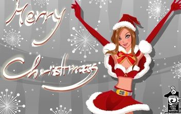 Merry Christmas - vector gratuit #176637