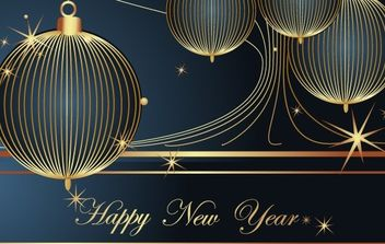 Happy New Year Vector Decoration Element - vector gratuit #176687